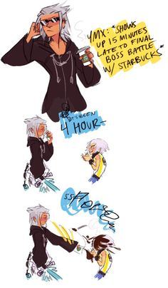 Haha when the boss is late and thinks he rules kingdom hearts just because he can time travel