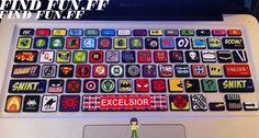 MacBook teclado Macbook Pro teclado piel Macbook Air la por FindFun