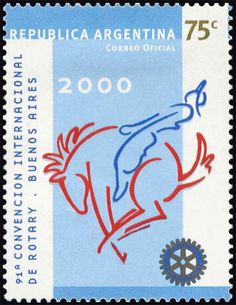 Stamp: Meeting Emblem (Argentina) (Annual meeting of Rotary, Buenos Aires) Mi:AR 2573,G&o:AR 3046,Gz :AR 2515