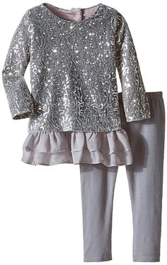 Rare Editions Baby Baby-Girls Infant Sequin Knit Legging Set Infant ** Trust me, this is great! Click the image. : Baby clothes