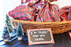 First birthday lumberjack party favors