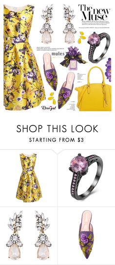 """Rosegal 8"" by anyasdesigns ❤ liked on Polyvore featuring Alberta Ferretti, Vera Wang and vintage"