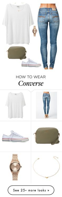 """""""Untitled #244"""" by cierrahenry01 on Polyvore featuring Nixon, Acne Studios, Nudie Jeans Co., Forever 21, Furla and Converse"""