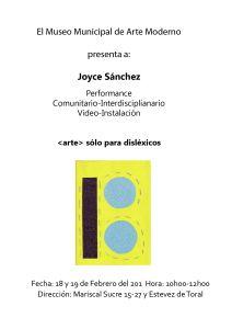 Afiche del Performance  sólo para dislexicos