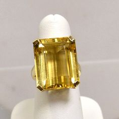 Beautiful Large 25 ct Emerald Cut Citrine and by LeslieDeanDesigns, $1200.00