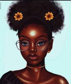 Black Love Art, Black Girl Art, Black Girls Rock, Black Is Beautiful, Black Girl Magic, Art Girl, Drawings Of Black Girls, Black Cartoon Characters, Afro Art