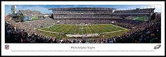 Philadelphia Eagles Wood Mounted Panoramic Poster Print - Lincoln Financial Stadium
