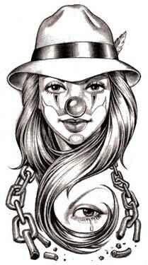 Gangster Clown Tattoo