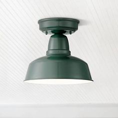 """Urban Barn Collection 10 1/4"""" Wide Green Ceiling Light"""