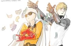 One Punch Man, Saitama and Genos