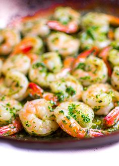 In less than 10 minutes, this INSANELY flavorful and healthy shrimp with chimichurri sauce will wow everyone at your table. Easy and so delicious! |rootandrevel.com