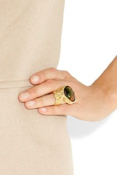 Love the hammered wrinkly gold #ring