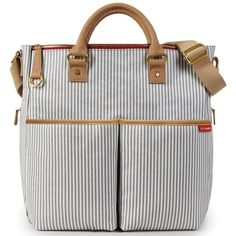 Skip Hop Diaper Bag Duo Deluxe Limited Edition French Stripe
