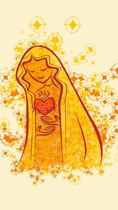 Não fique de fora desta! Baixe wallpapers exclusivos de Maria no seu smartphopne! São imagens graciosas e delicadas assim como a Mãe de Jesus.