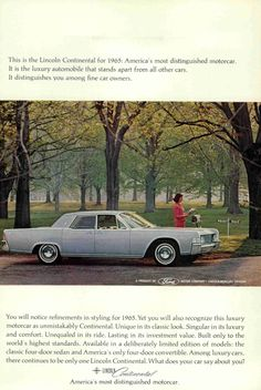 1964 #vintage #ad #magazine #old #car #lincoln