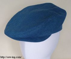 Flatcap--this pattern is for a full size cap. Saving it so that I can get the shapes correct for miniature.