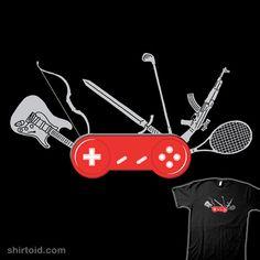Swiss Gamepad T-shirt $12