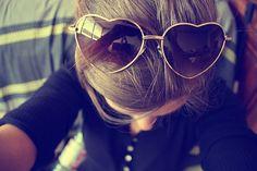 Heart Slim Sunglasses #heart #sunglasses www.loveitsomuch.com