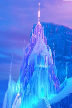 Elsa's Ice Palace was created by Elsa the Snow Queen in the Disney animated film Frozen. The Ice Castle was created by Elsa as practice for her powers on the North Mountain a day's walk away from Arendelle. Frozen Disney, Disney Pixar, Frozen Movie, Elsa Frozen, Disney And Dreamworks, Disney Animation, Disney Magic, Disney Art, Disney Movies