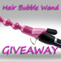 GIVEAWAY: The One Bubble Wand for hair only  Like it and re- pin it to increase the chance of winning. Tag a friend who might like this.  Sign up at www.nelsonjsalon.com  Check your inbox, you might be last week winner.
