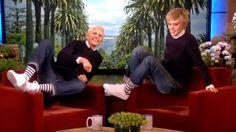 Top 10 Moments On The Ellen DeGeneres Show - YouTube School Quotes, School Humor, Ellen And Portia, Funny School Pictures, Ellen Degeneres Show, Kate Mckinnon, The Ellen Show, Smiles And Laughs, Funny Babies