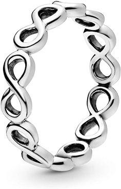 El anillo infinito de la marca Pandora tan famoso que todo el mundo busca, está aquí a un solo clic. Marca Pandora Oficial. Infinity Band Ring, Infinity Jewelry, Infinity Signs, Pandora Rings, Pandora Jewelry, Ring Ring, 14k Gold Ring, Sterling Silver Rings, Simple Jewelry