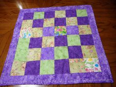 Easter Patchwork Table Topper/Quilted by ShirleyCQuilts on Etsy