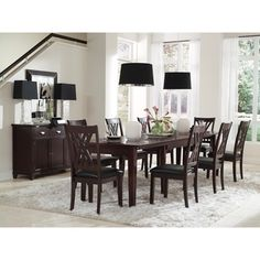Shop For Simply Solid Asha Solid Wood 8 Piece Dining Collection. Get Freeu2026