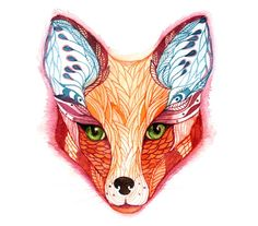 Yet another fox face - but they are so pretty...