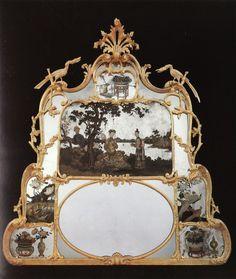 C.1765 Overmantle mirror