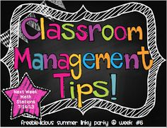 Second Grade is the Bee's Knees: Classroom Management