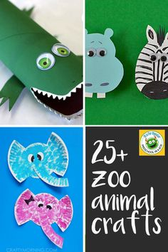 25+ Zoo Animal Crafts All Kids Will Love To Make. A perfect way to extend a fun zoo trip or to study all different kinds of animals.