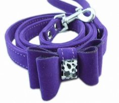 KINGDE Butterfly cat traction rope belt cat flock material Pu1.3*115PURPLEno.XQN77 > Additional details found at the image link  : Cat Collar, Harness and Leash