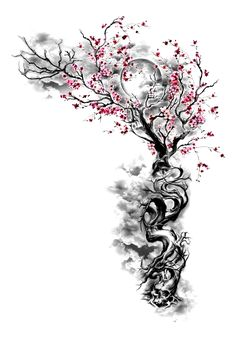 ideas tattoo frauen unterarm gesicht for 2019 - - Tattoos Neu Nature Tattoos, Life Tattoos, Body Art Tattoos, Blossom Tree Tattoo, Blossom Trees, Cherry Blossom, Irezumi Tattoos, Tree Tattoo Designs, Tattoo Sleeve Designs