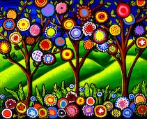 Many Flowered Tree Kit by Britenbucher, Renie
