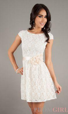 White Lace Chiffon Dress / Little White Dress / White Fit and ...