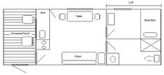 12 x 24 cabin floor plans ile ilgili görsel sonucu