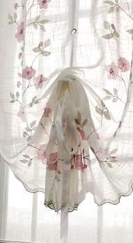 Country Style Curtains, Tassel Curtains, Flower Curtain, Romantic Cottage, Cool Beds, Bed And Breakfast, Pretty Flowers, Kimono Top, Women