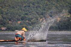 Lake Inle fishing style