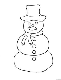 simple snowman coloring pages coloring pages applique - Simple Coloring Pages For Kids