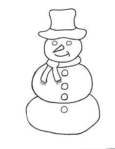 simple snowman coloring pages  Coloring Pages  applique