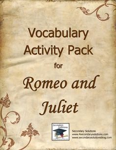 What Essay topic is expected to get in a Romeo and Juliet book Final Exam/test?