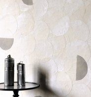 Papier peint Arbor Beads Wallcovering Gull Grey - Romo - Marie Claire Maison