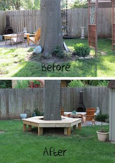 Dippity Dot: Bench-Around-a-Tree... I need this!!!!!!