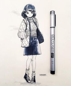 冬が近付いてきましたね。 Anime Art Girl, Manga Girl, Manga Anime, Anime Girls, Character Illustration, Illustration Art, Figure Drawing Reference, Hand Art, Anime Sketch