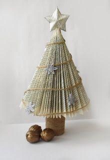 Folded book Christmas tree
