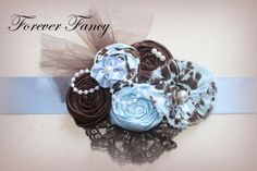 Blue Brown It's A Boy Maternity Sash by babygiselle on Etsy, $24.00