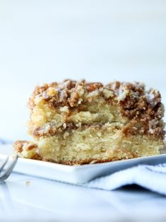 The VERY Best Coffee Cake Recipe ever is moist and buttery, with a cinnamon sugar layer in the middle topped with crumb topping and a sweet glaze icing. Grab a cup of coffee and enjoy! #cookiesandcups #coffeecake #crumbcake #cinnamonsugar #cakerecipe #cinnamoncake #breakfast #brunch Best Dessert Recipes, Fun Desserts, Cake Recipes, Drink Recipes, Delicious Desserts, Yummy Food, Best Coffee Cake Recipe Ever, Brown Sugar Cakes, Best Bakery
