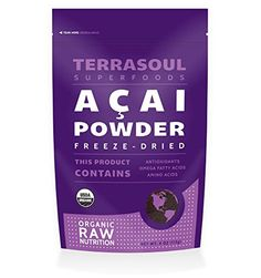 Terrasoul Superfoods Acai Berry Powder Freezedried Organic 4ounce * You can get more details by clicking on the image.Note:It is affiliate link to Amazon. #lol