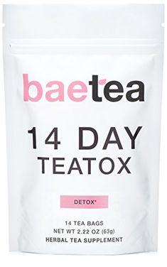 Baetea 14 Day Teatox Detox Herbal Tea Supplement (14 Tea ...